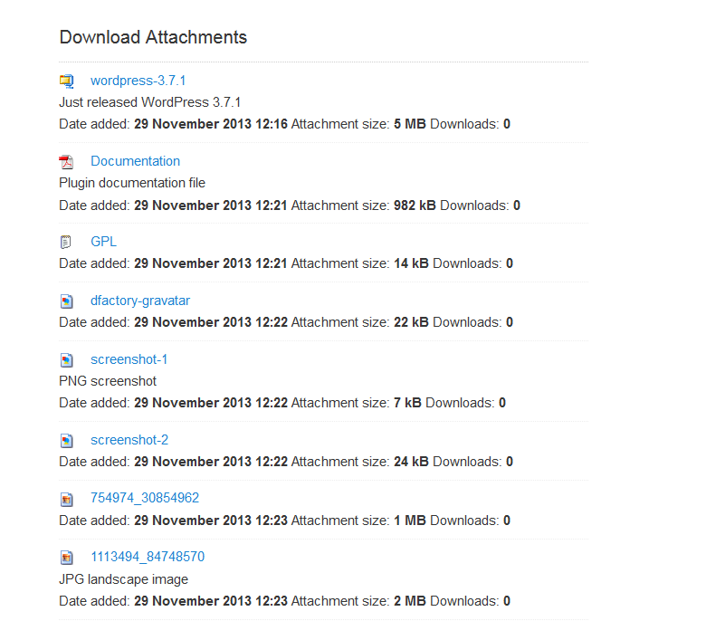 Download Attachments – WordPress plugin | WordPress org