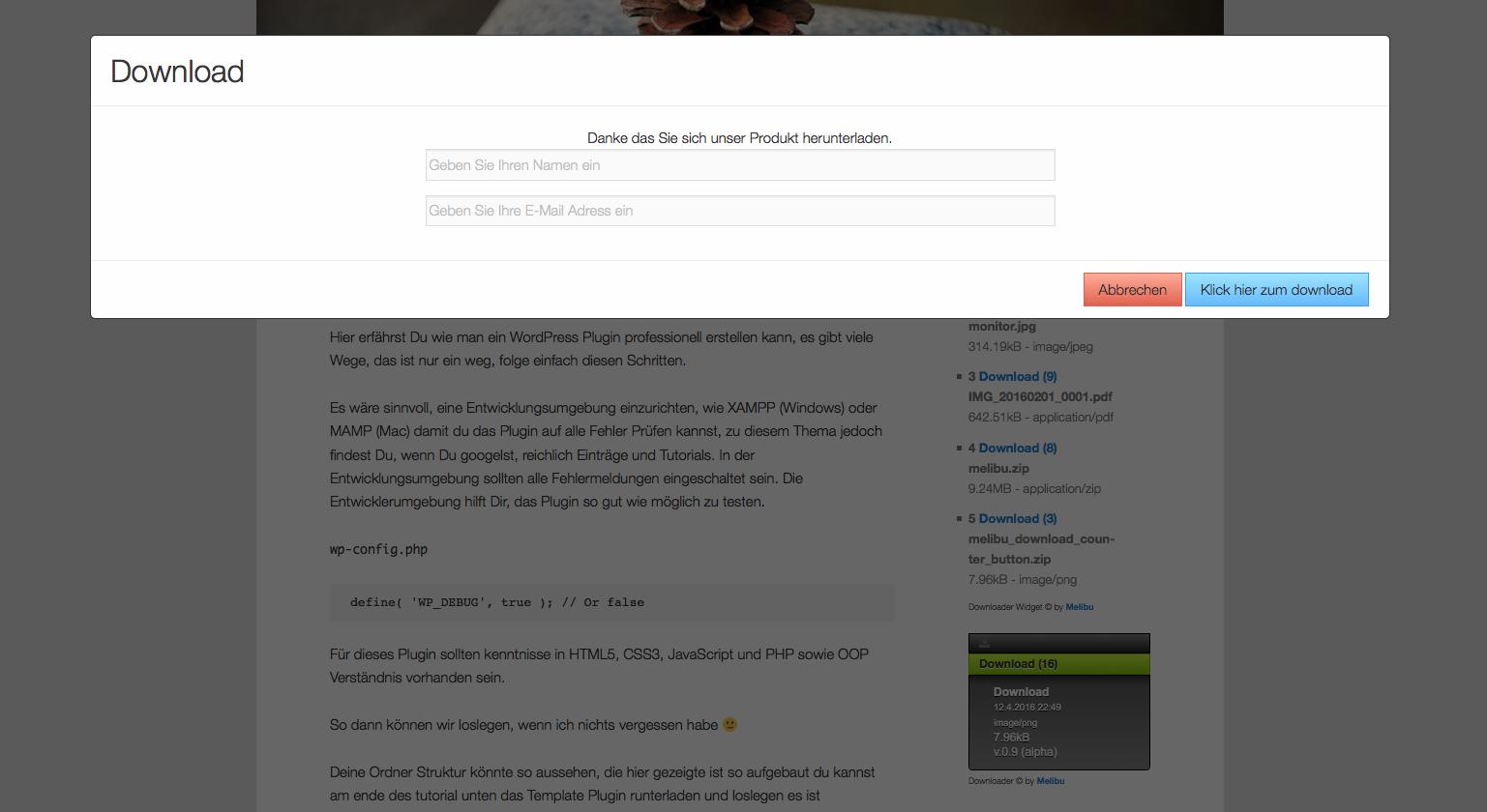 MelAbu WP Download Counter Button – WordPress plugin