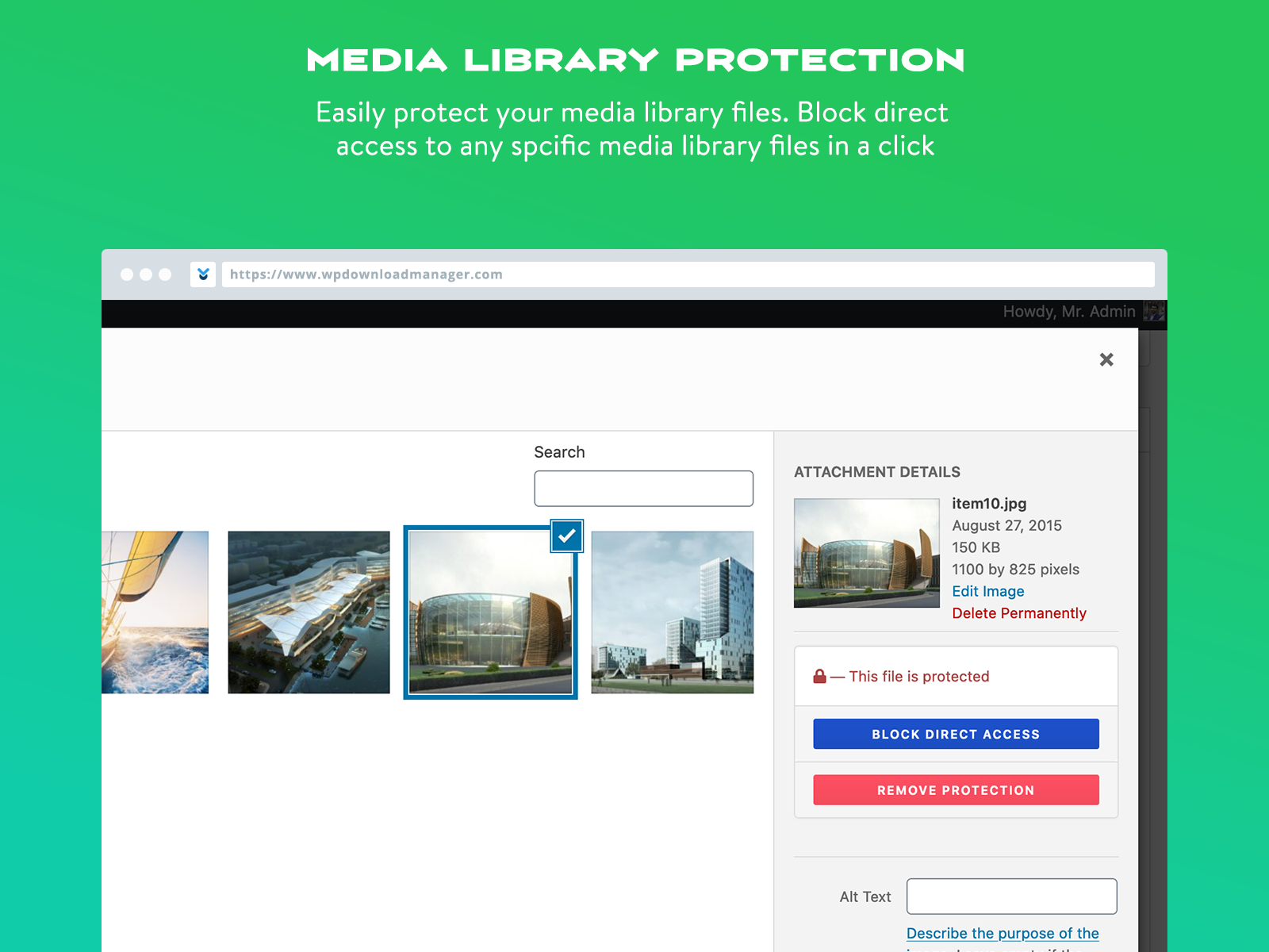 Media library protection