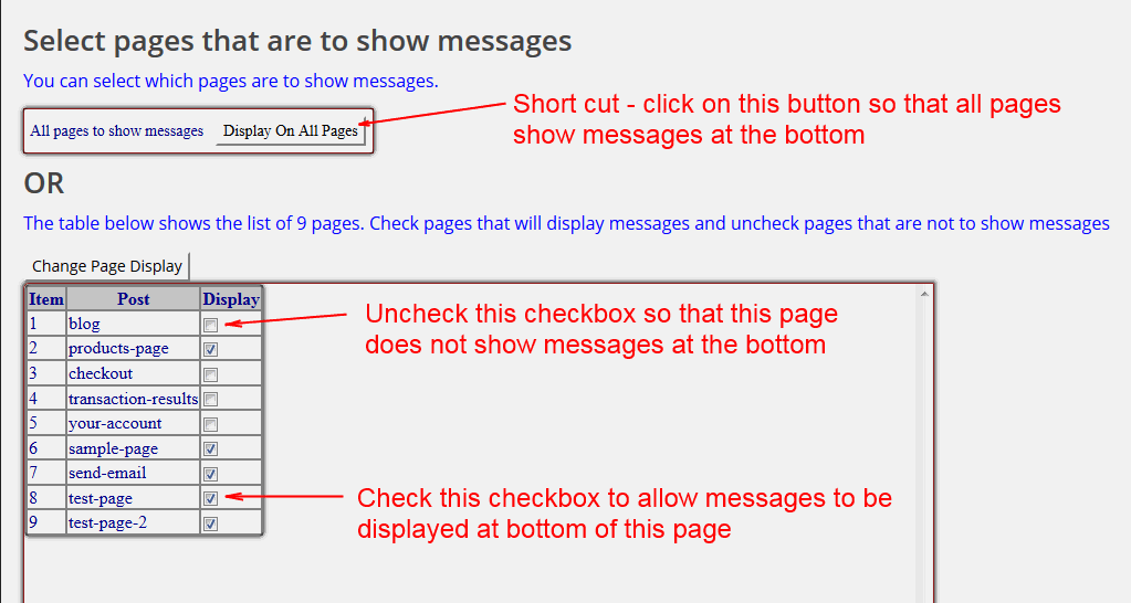 Shows example of how to allow page to display message or stop displaying message. screenshot-7.png