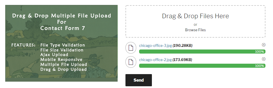 Drag and Drop Multiple File Upload – Contact Form 7 – WordPress
