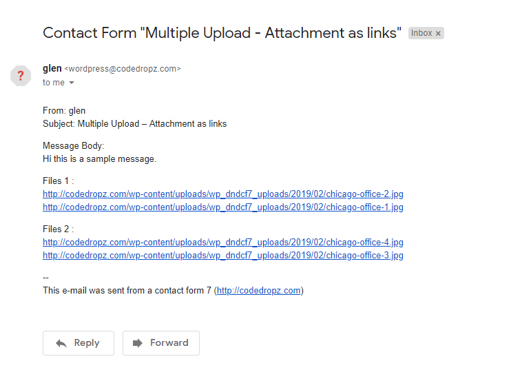 Email Attachment As links - Gmail