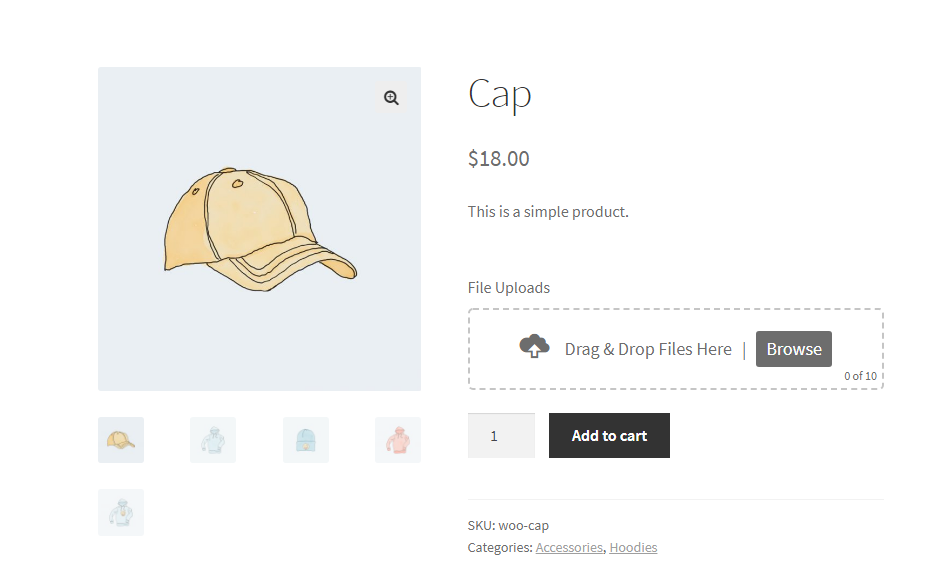 Drag and Drop Multiple File Upload for WooCommerce