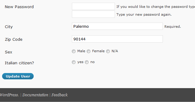 Enhanced user profile