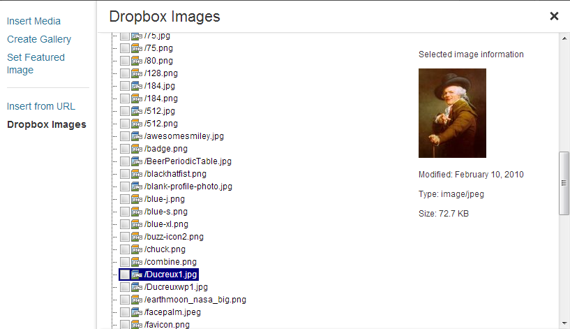 dropbox-photo-sideloader screenshot 2