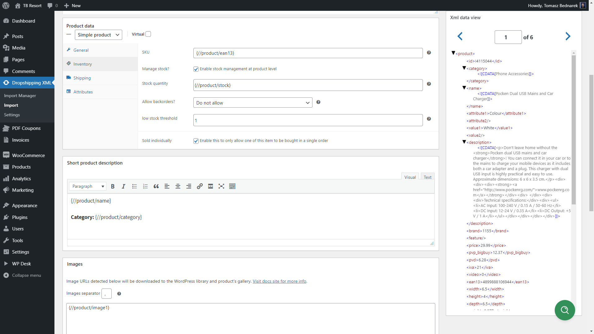 Set all products data in Product Mapper