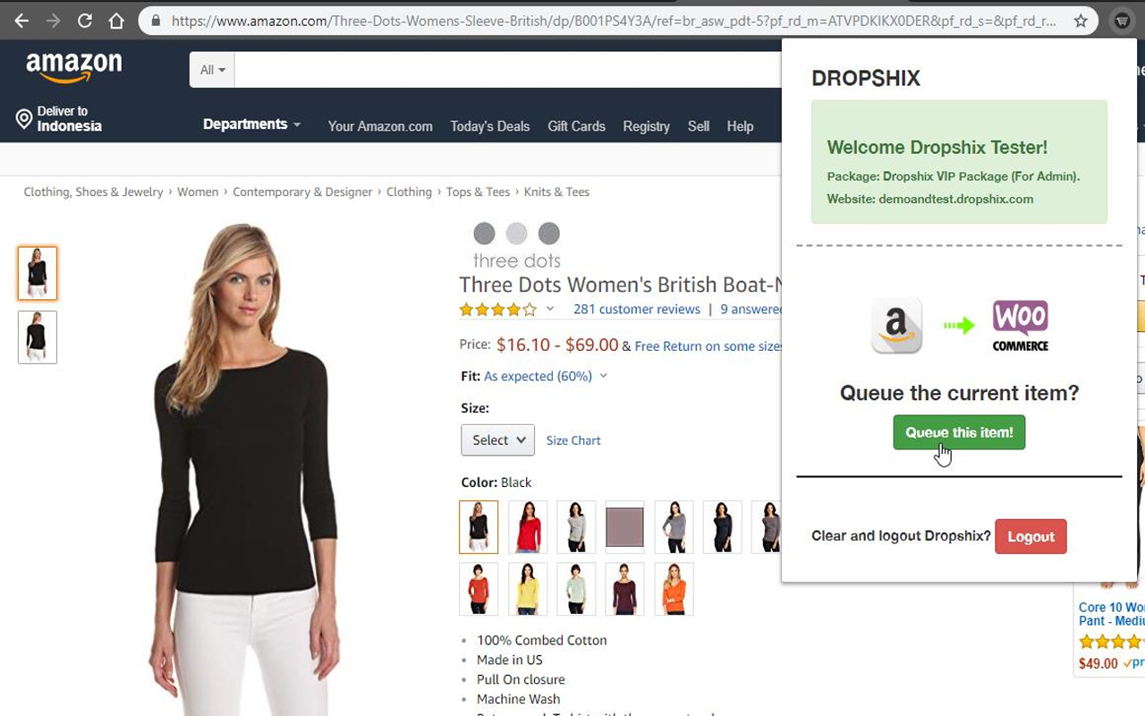 Easily import products directly from Amazon (US) website.