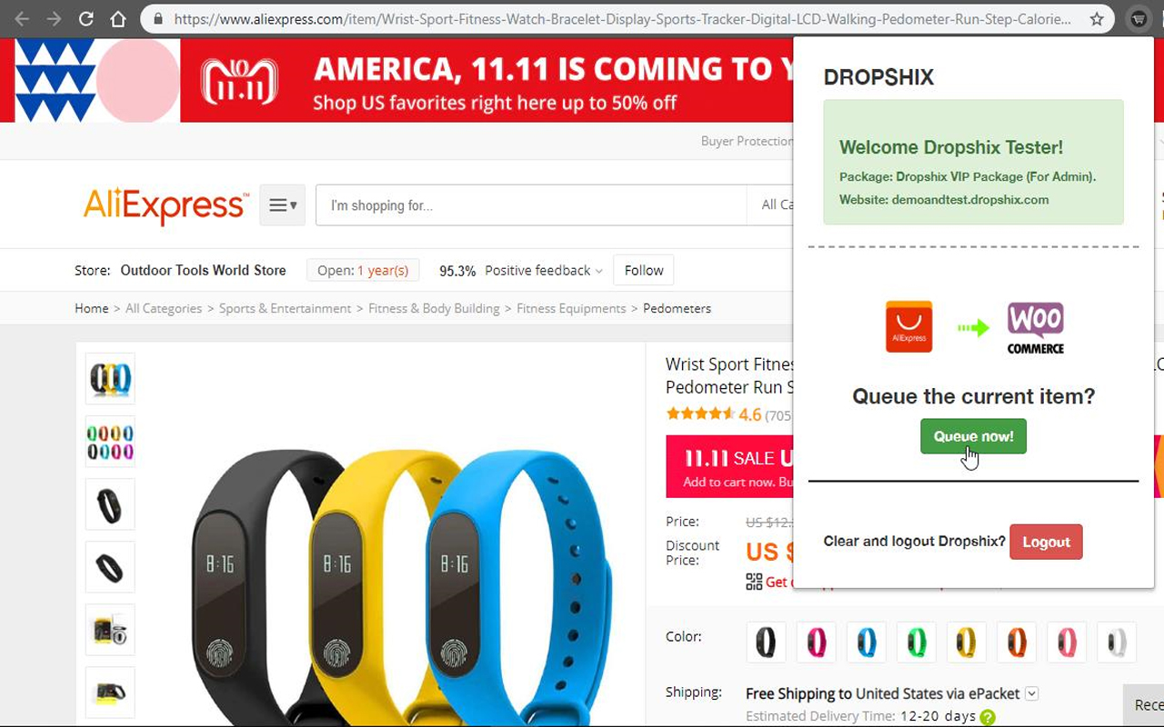 Easily import products directly from AliExpress website.