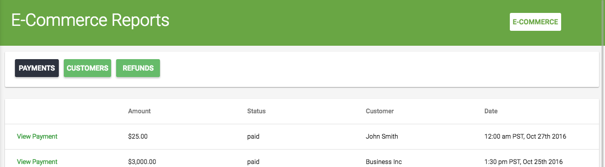 Screenshot 3 - Payments In Due E-Commerce Reports