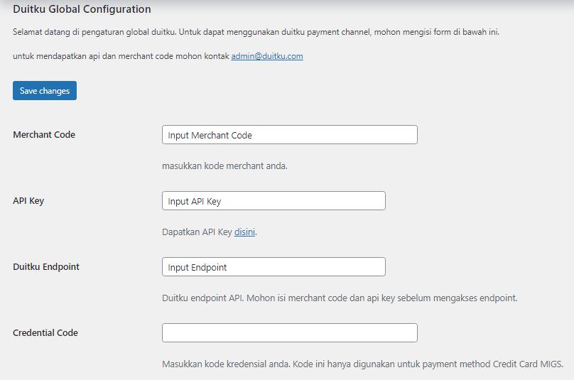 <p>Duitku Global Configuration Settings</p>