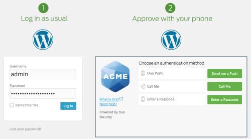 Duo Two-Factor Authentication – WordPress plugin | WordPress org