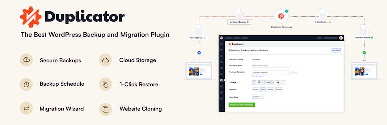 Duplicator Plugin for backup wordpress