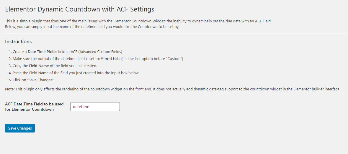 Dynamic Countdown with ACF and Elementor