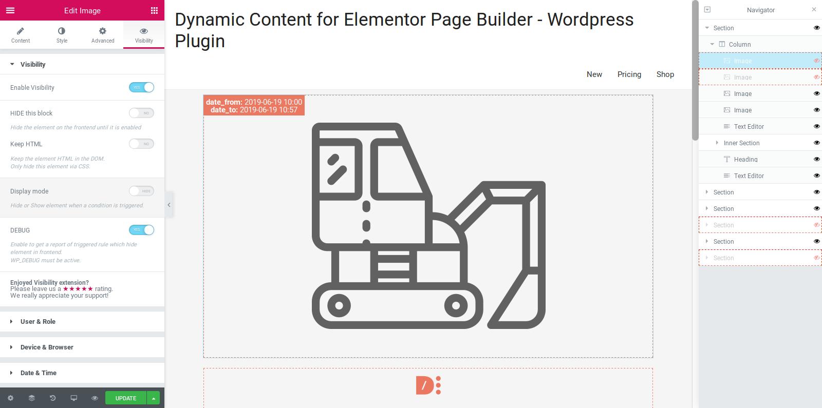 Dynamic Visibility for Elementor – WordPress plugin