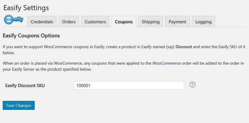 Coupons, the Easify WooCommerce Plugin supports WooCommerce coupons.