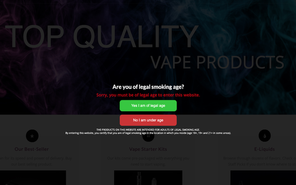 Vape Demo Display - Free