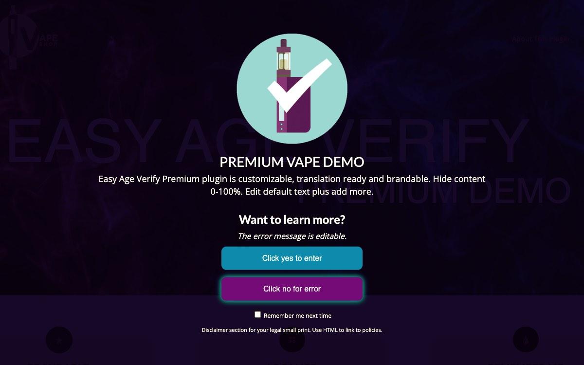 Vape Demo Display - Premium Version