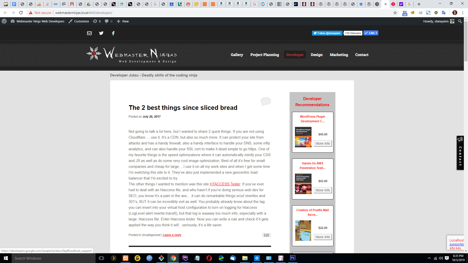 This is the screenshot of the widget on a blog in the sidebar
