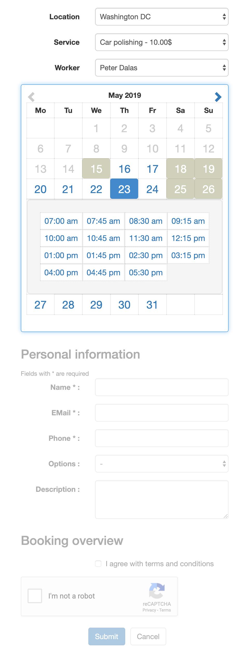 Easy Appointments – WordPress plugin | WordPress org