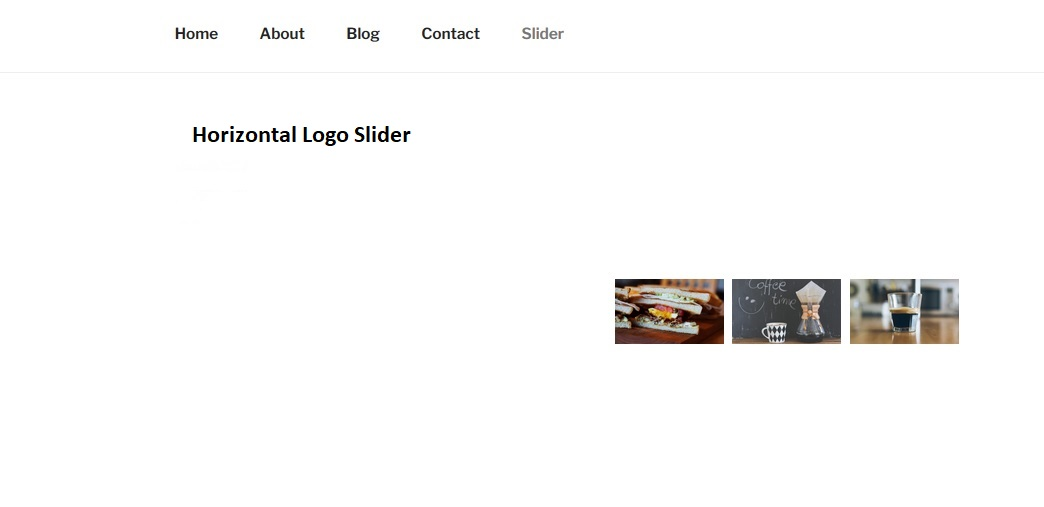 This is for Horizontal Logo Slider Example.