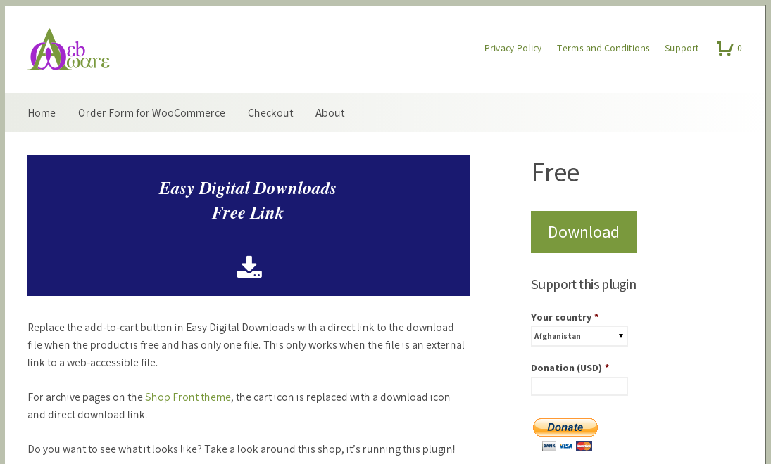 Easy Digital Downloads Free Link – WordPress plugin | WordPress org