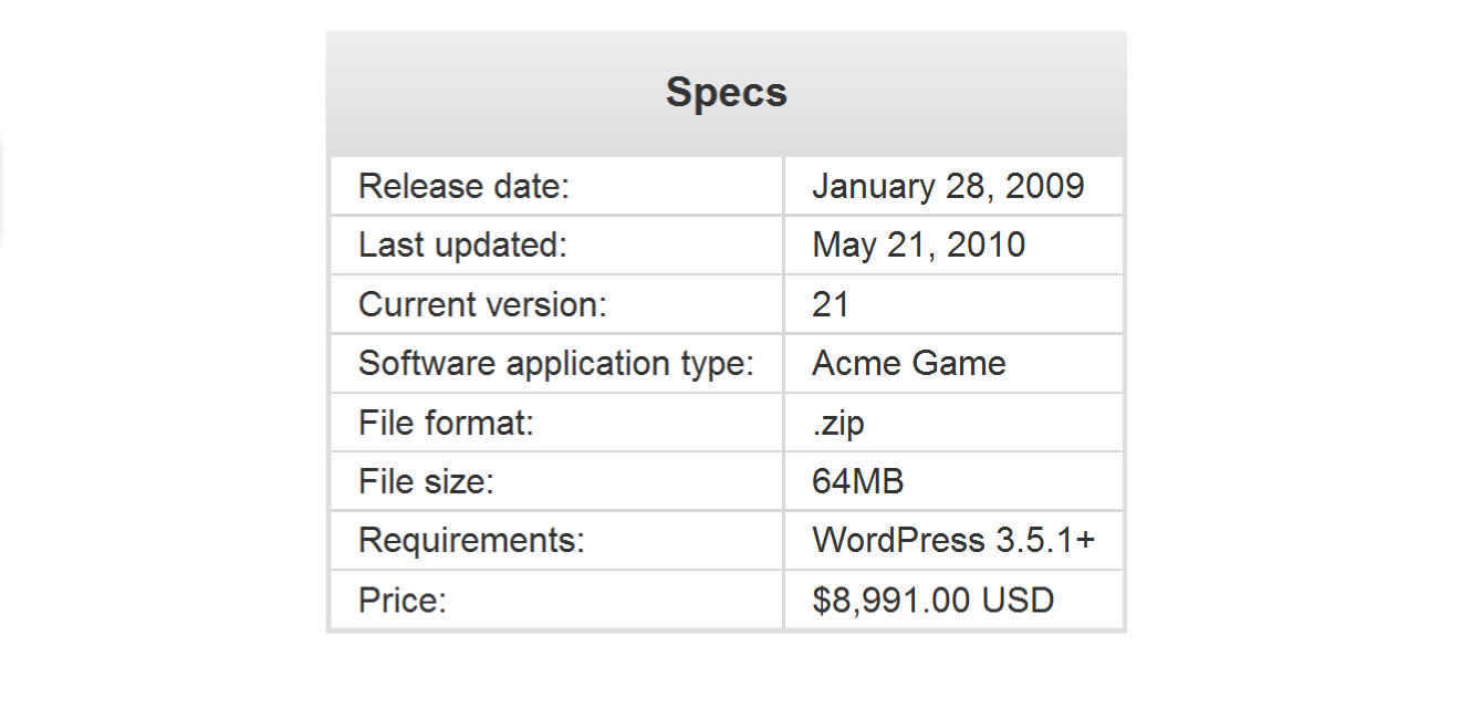 easy-digital-downloads-software-specs screenshot 1