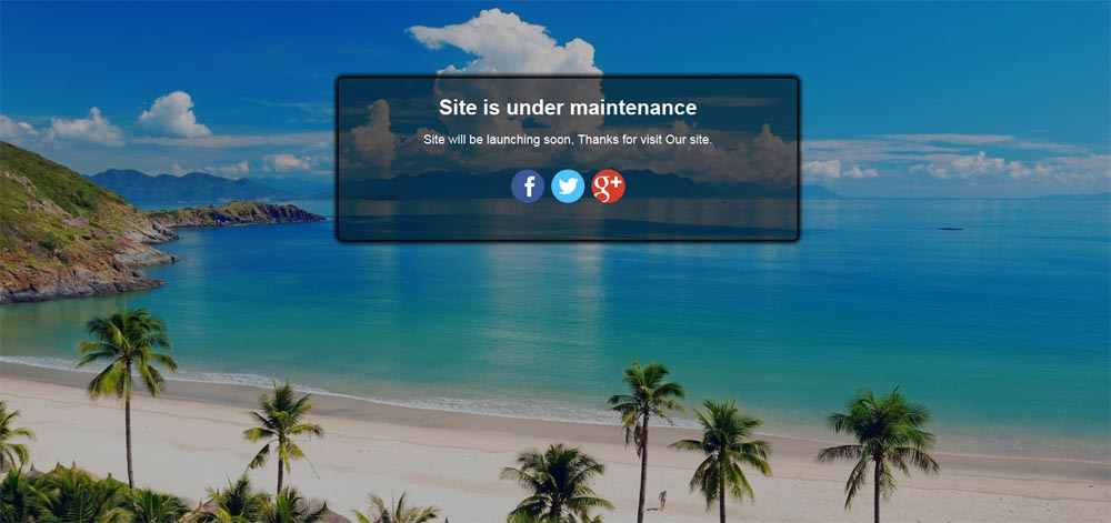 Create Maintenance Mode page like this