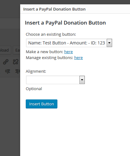 how to set up donations with paypal