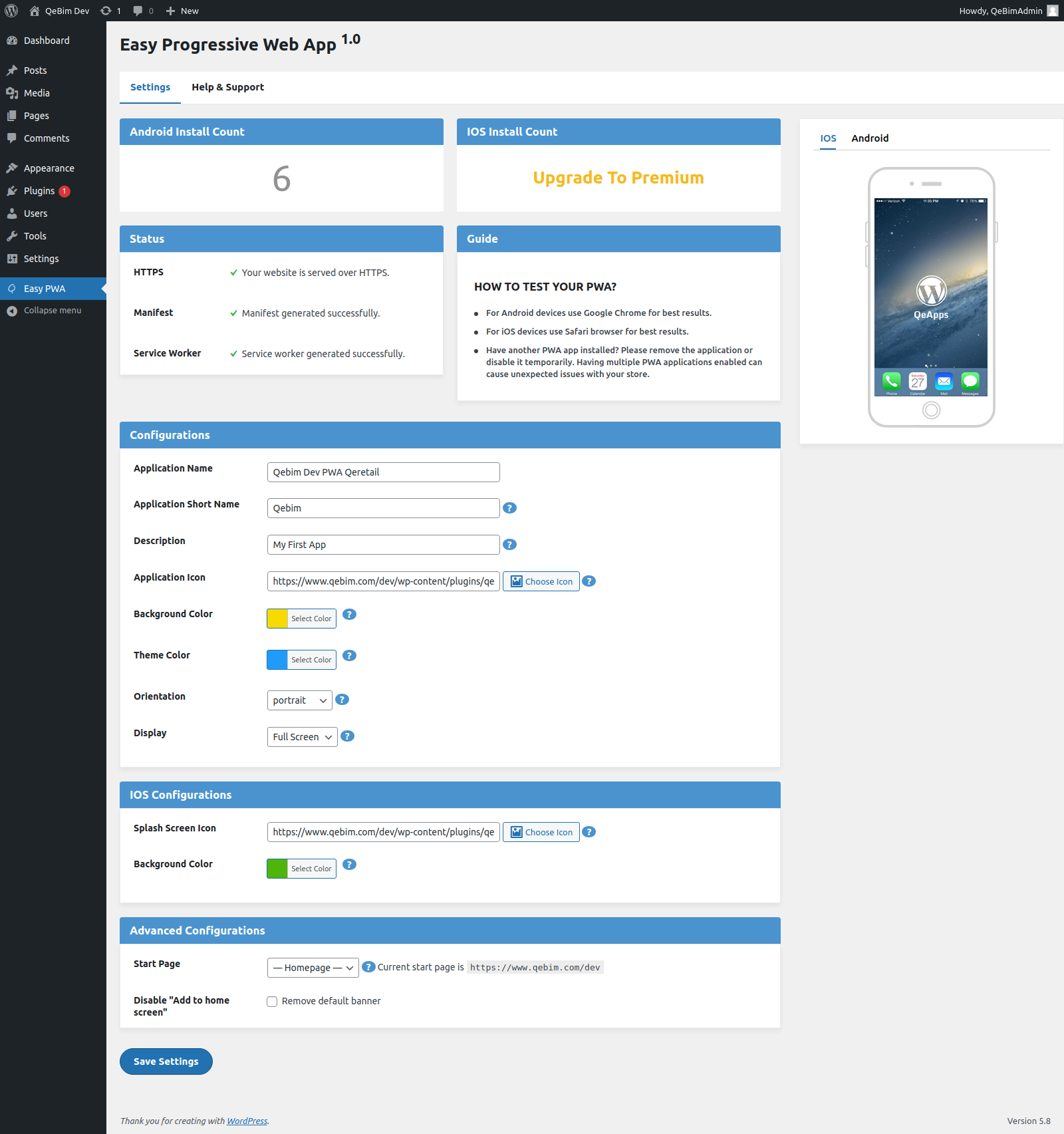 Easy Progressive Web App