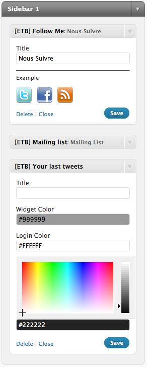 Eg of Widgets