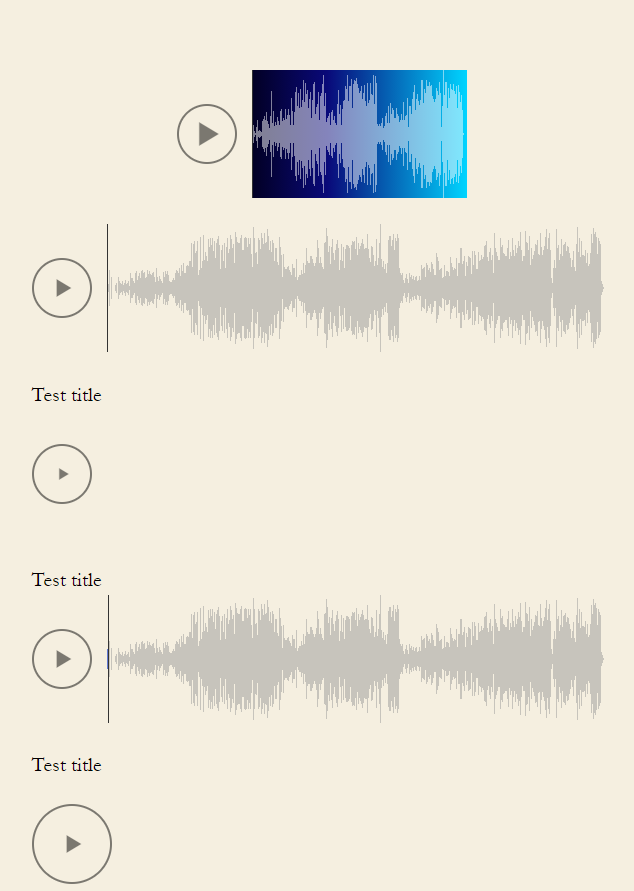 Waveform Player example