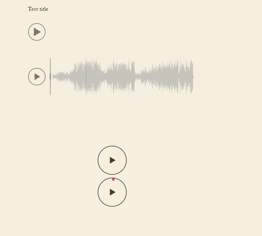 Waveform Player example with mini players