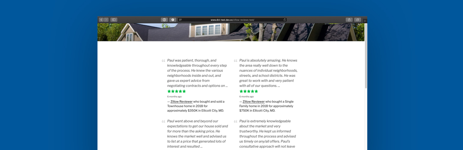 Easy Zillow Reviews