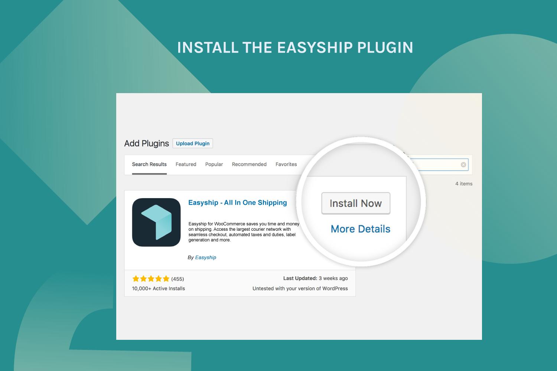 Install the Easyship plugin
