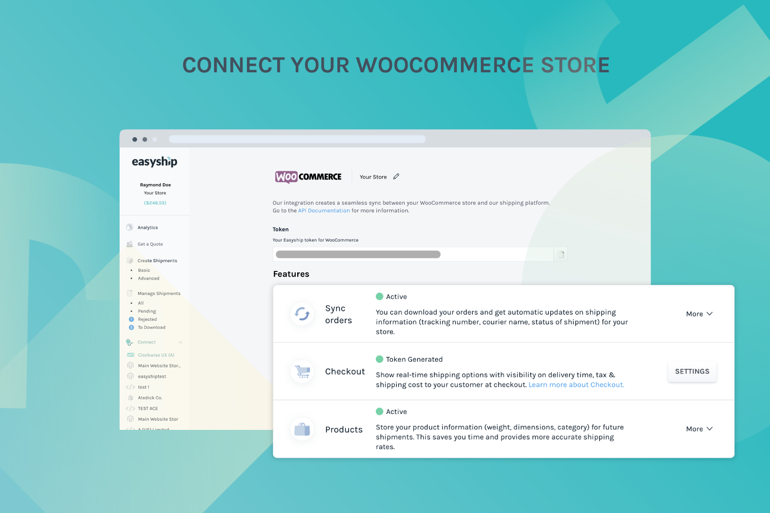 Connect your WooCommerce store