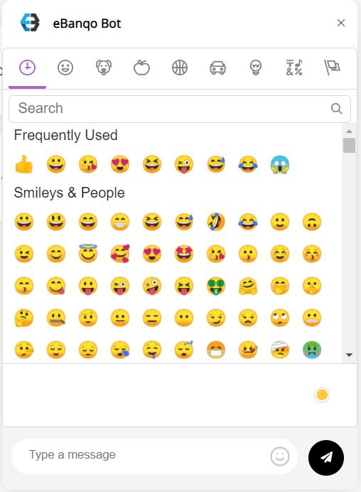 <p>Emoji view for chat messages - (screenshot-5.png) https://drive.google.com/file/d/1x8w584XBHeoi00Z7c-onbF2-KMI8Toeo/view?usp=sharing</p>