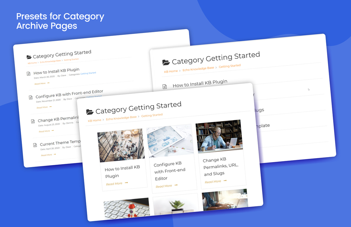 <p>Styles for Category Archive Page</p>