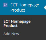 <p>ECT Home Page Product plugin</p>