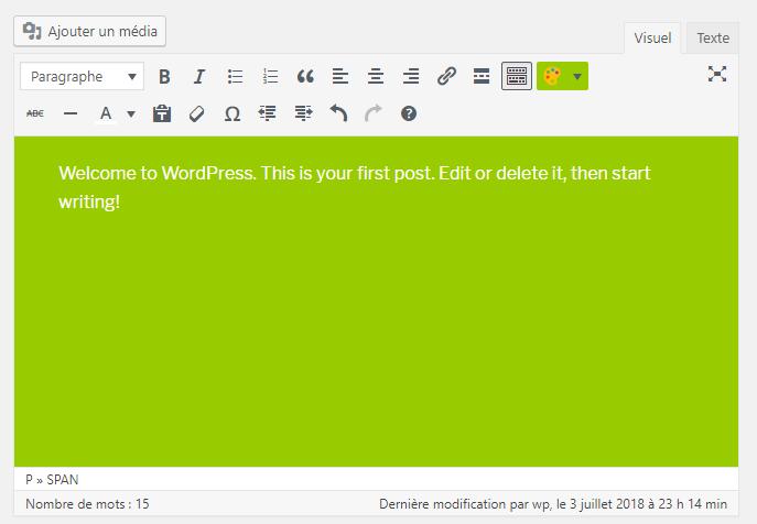Plugin working admin editor
