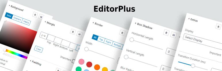 Bibliothèque et boîte à outils de blocs Gutenberg – Editor Plus par Extendify