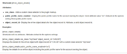 ehive-object-details screenshot 2