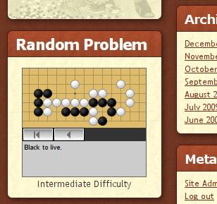 Random problem widget