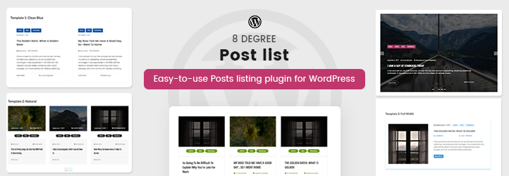 8Degree Posts List Plugin