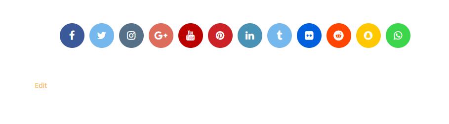 Social Icons Block