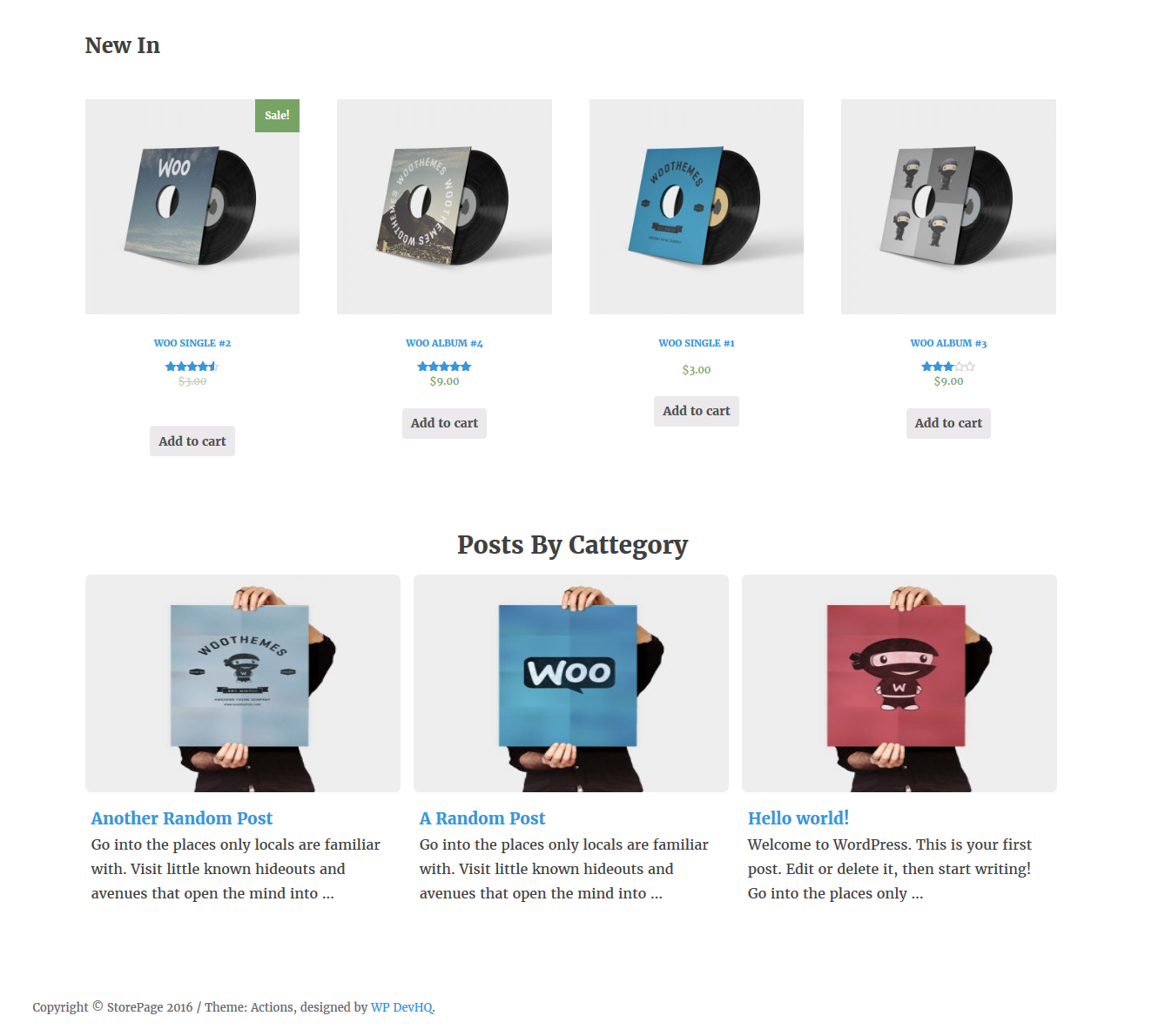 <p>Frontend View Products And Posts</p>