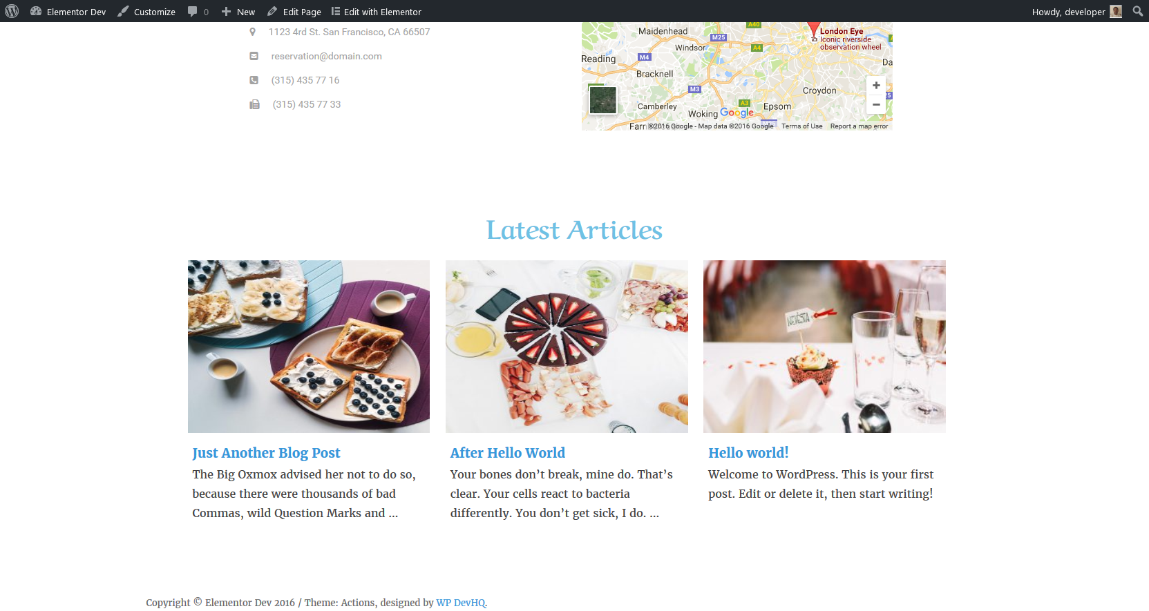 <p>Frontend view posts with custom title.</p>