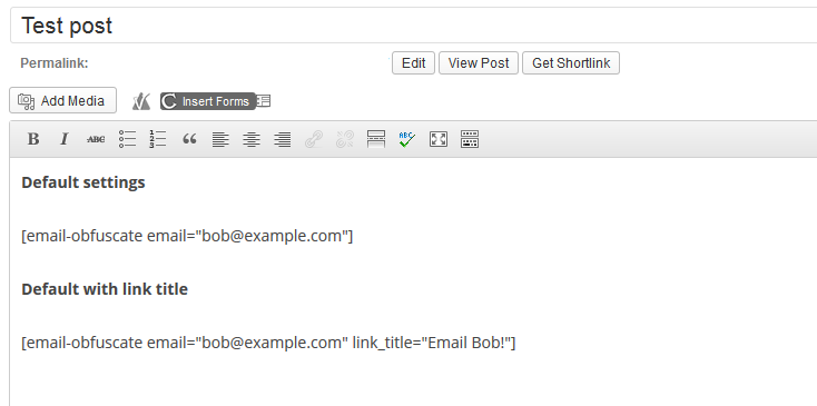 email-obfuscate-shortcode screenshot 1