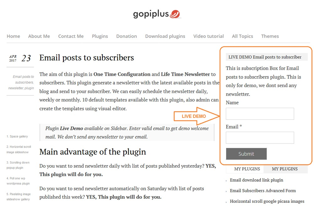 email-posts-to-subscribers screenshot 1