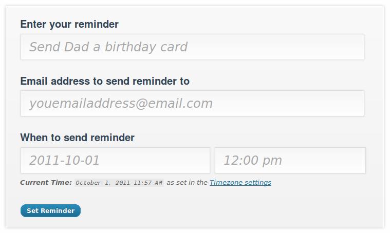 Email Reminder WordPress Plugins – Reminder Email