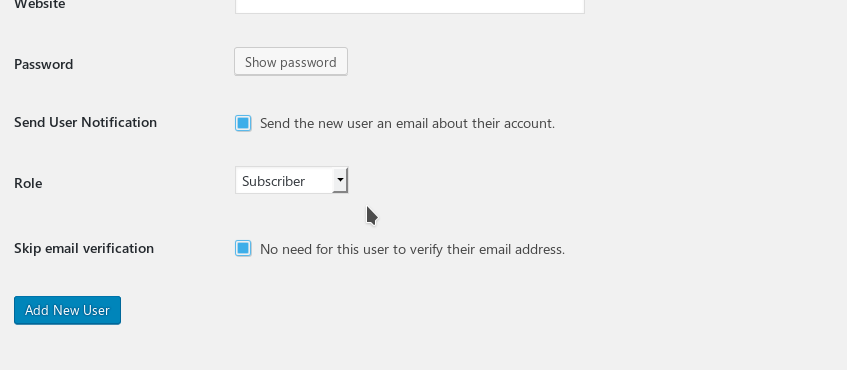 Email verification on signups